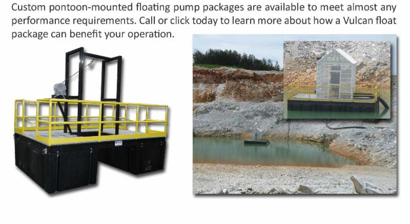 Custom pontoon-mounted floating pump