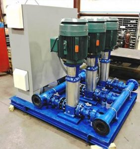 Fabricated Booster System for Chicken Processor Plant