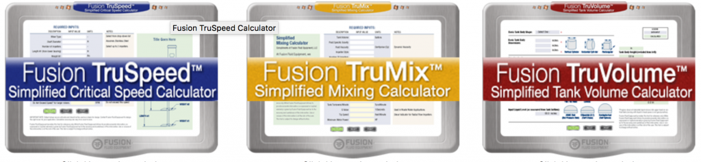 Fusion Fluid Equipment Mixing Calculators