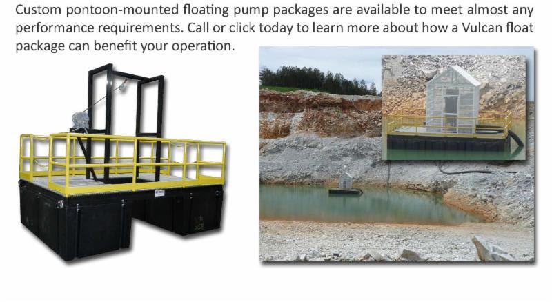Custom pontoon-mounted floating pump