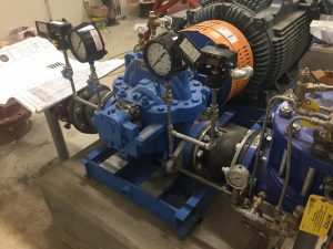 Goulds 3410 Small Capacity Double Suction Pump at Water Treatment Plant