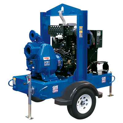 Gorman-Rupp Ultra V Series engine-driven, self-priming centrifugal pumps