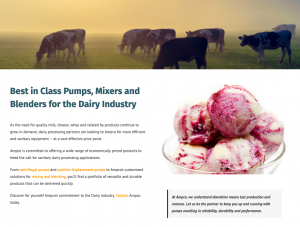 Dairy Processing Products by Ampco Pumps Company