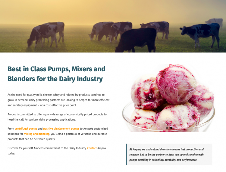 dairy processing pumps
