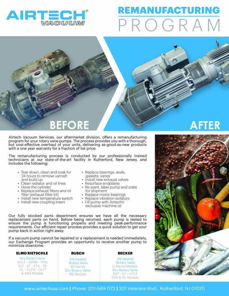 Airtech Vacuum Remanufacturing Program