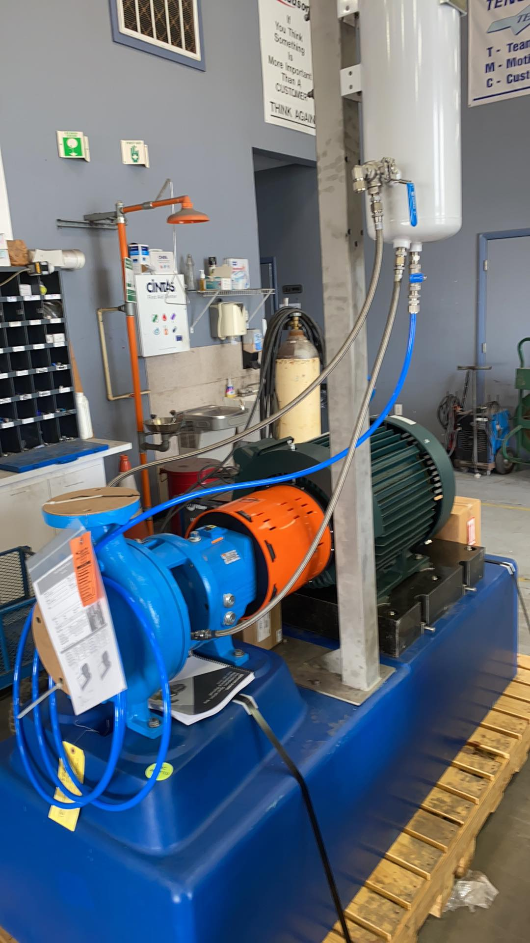 Chemical Pump Skid with Goulds 3196