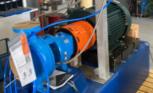 Fabricated Goulds 3196 Chemical Skid for Aggressive Pumping